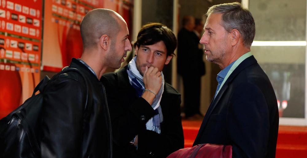 Alain Perrin avec l'analyste vidéo Samir Chamma et le journaliste Romain Jacquot