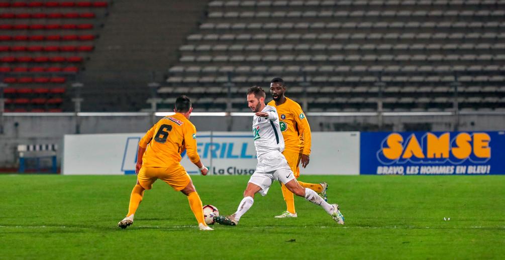 L'ASNL s'est imposée à Annecy grâce à un but rapide de Busin (photo FCA).