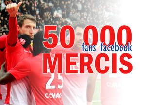 50 000 mercis sur Facebook !