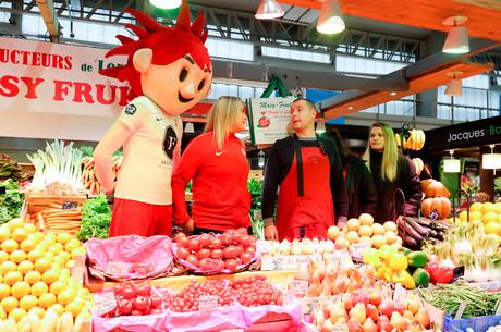 Les féminines au marché central