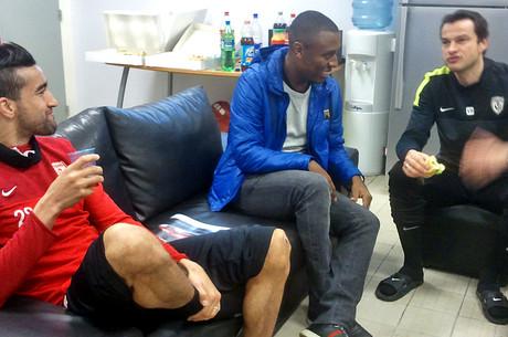 André Luiz et Hadji en tribune