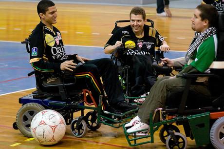 Des pros en fauteuil roulant