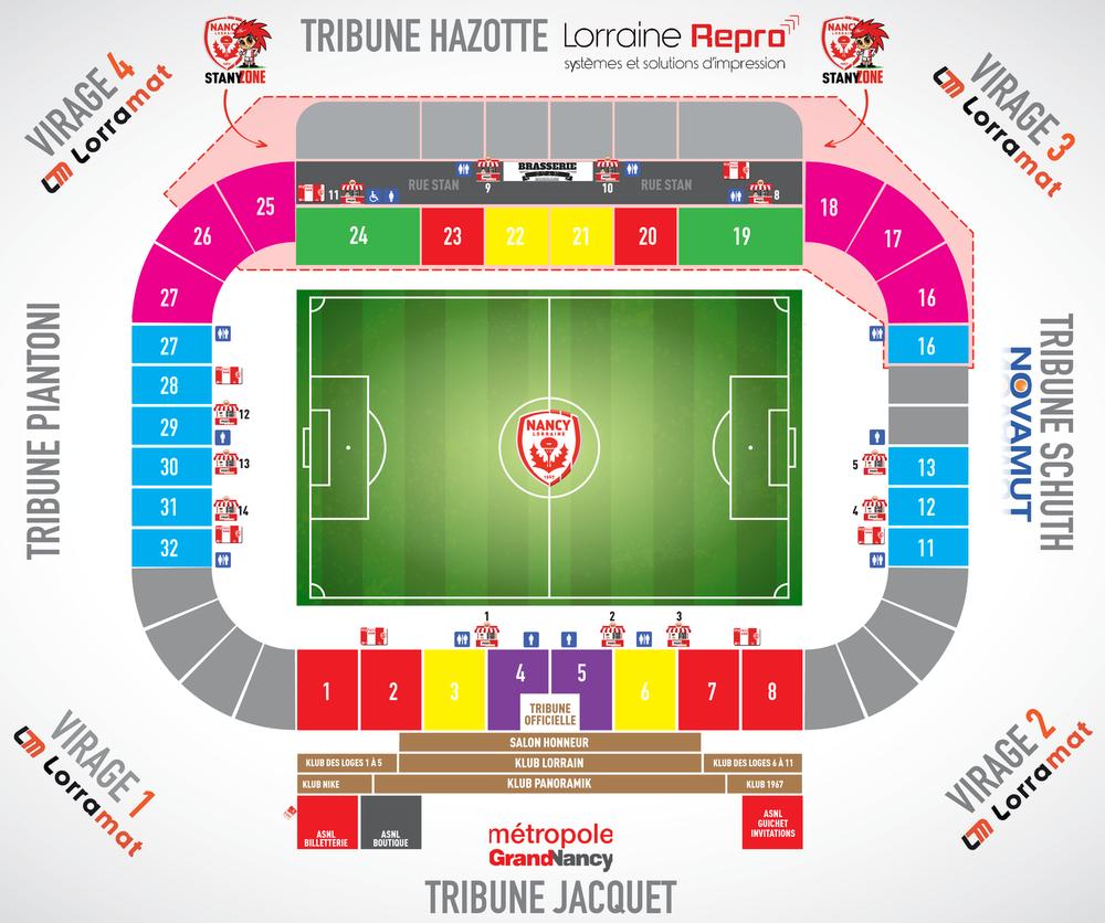 Le plan du stade Marcel-Picot