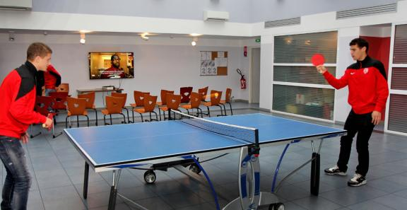 Partie de tennis de table