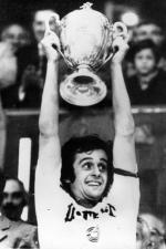Michel Platini gagne la coupe de France 78