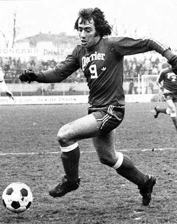 Attaquant de 1971 à 1974 (79 matchs, 30 buts)