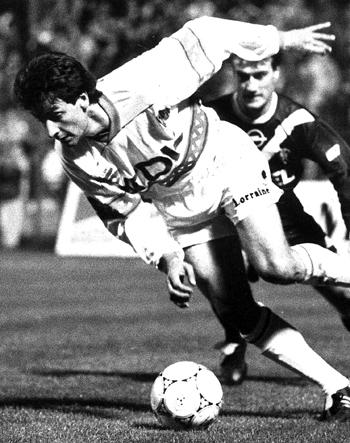 Défenseur de 1990 à 1993 (89 matchs, 1 but)