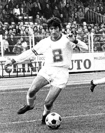 Milieu de 1974 à 1976 (37 matchs, 2 buts)