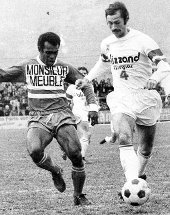 Défenseur de 1971 à 1975 (130 matchs, 1 but)