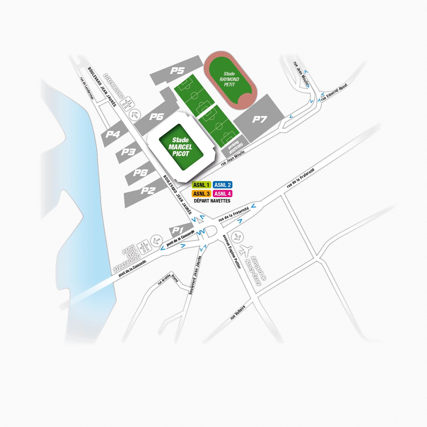 Plan d'accès et des parkings de Picot