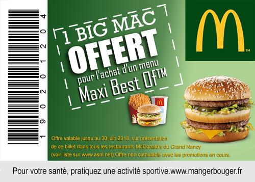 McDonald's offre un Big Mac